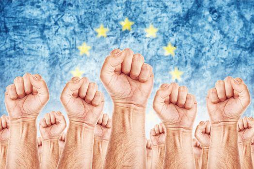 European Labour movement, workers union strike