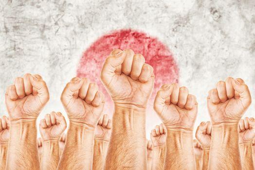 Japan Labour movement, workers union strike