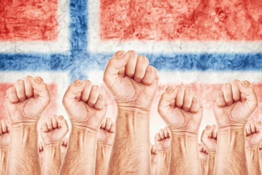 Norway Labour movement, workers union strike