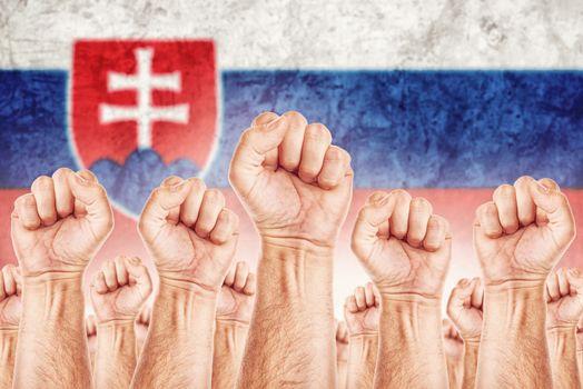 Slovakia Labour movement, workers union strike