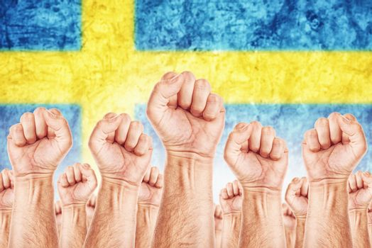Sweden Labour movement, workers union strike