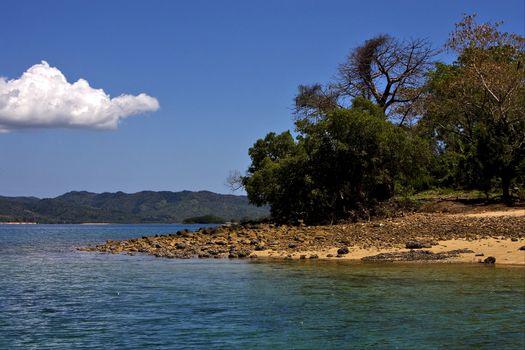 cloudy  lagoon and coastline in madagascar