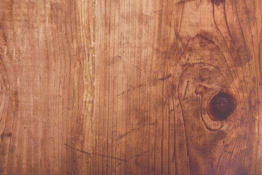 Retro toned rustic oak wood plank