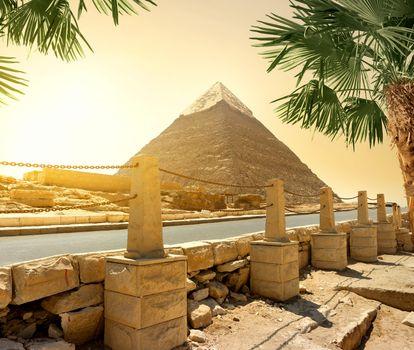 Pyramid and road
