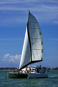catamaran tropical lagoon hill navigable