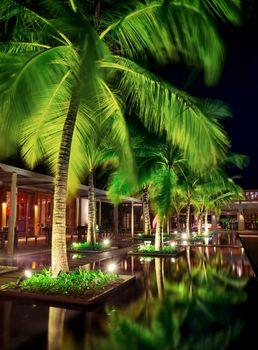 Beautiful restaurant at night