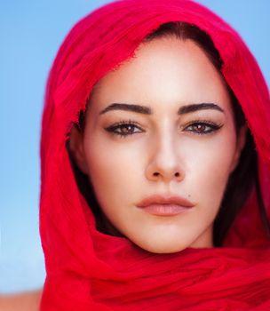 Beautiful arabic woman portrait