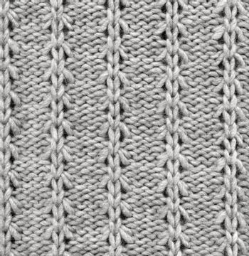 Wool Knitted Pattern. Closeup Fabric Background