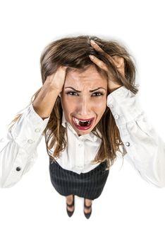 Stressed Busineswoman