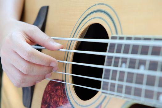 acoustic bass guitar.