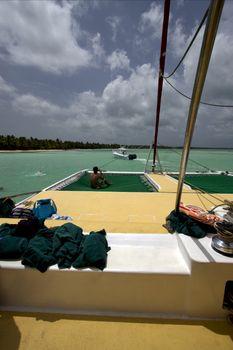 towel tropical lagoon catamaran
