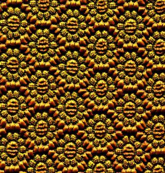 Golden Lace Pattern. Floral Background