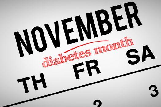 Composite image of diabetes month
