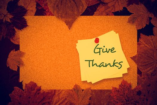 Composite image of give thanks