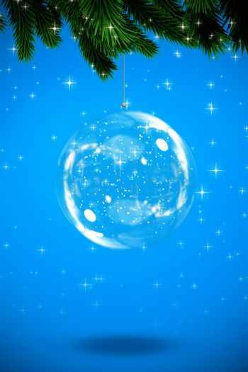 Composite image of christmas bauble