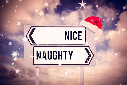 Composite image of naughty or nice