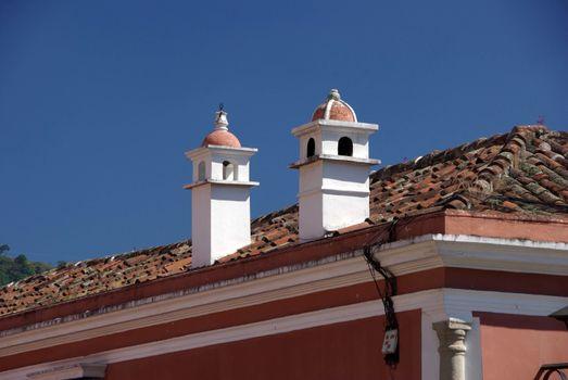 Roof in Antigua, Guatemala