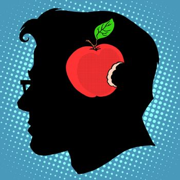 Bitten Apple in mind a business concept knowledge