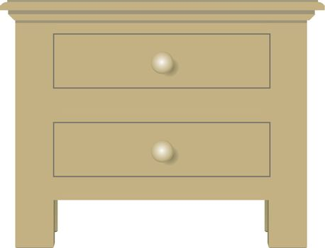 Bedside table with two drawers