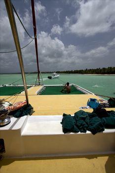 towel tropical lagoon
