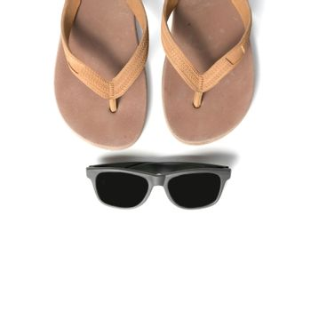 sunglasses and slippers