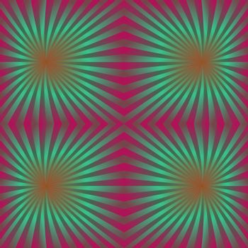 Seamless colorful psychedelic ray pattern background