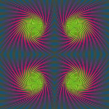 Seamless colorful psychedelic spiral pattern