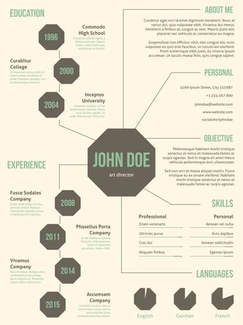 New resume cv template for employment
