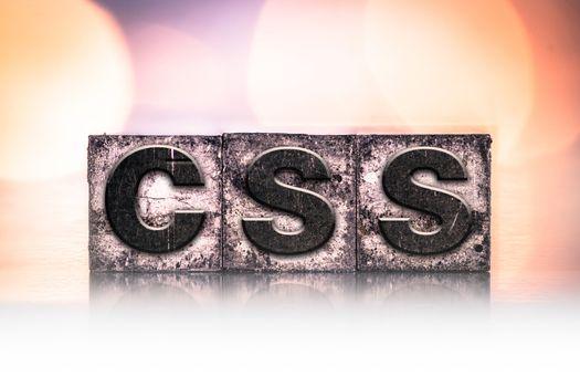 CSS Concept Vintage Letterpress Type