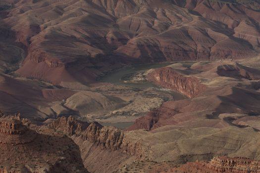 Winding Colorado River Grand Canyon AZ