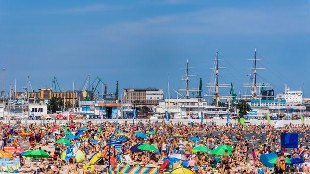 Municipal beach in Gdynia