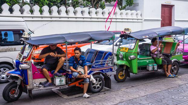 Motor bike rickshaws