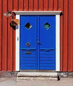 Blue dorway
