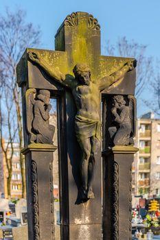 Jesus Christ tomb sculpture