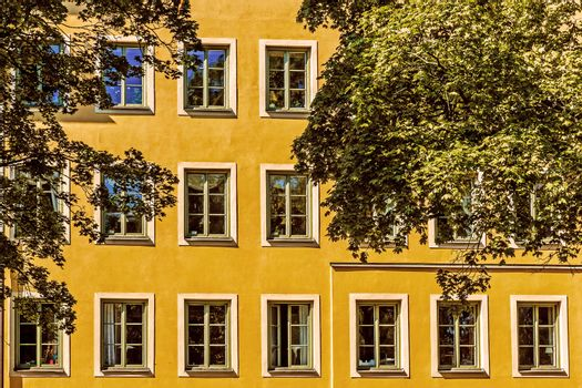 Facade of a residential