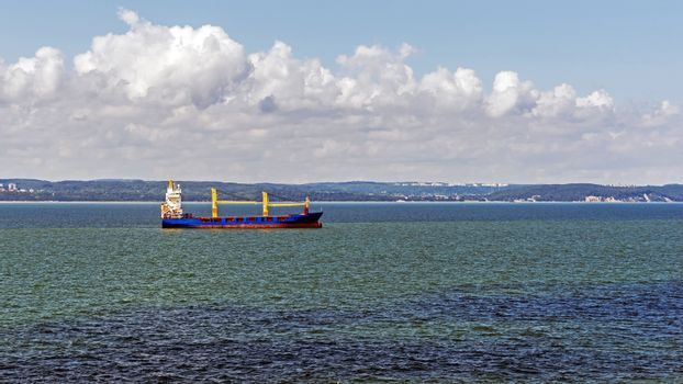 Ship awaiting for an entry into the Port of Gdynia