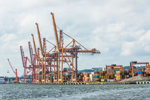 Cargo containers terminal