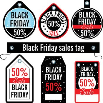 Vector. Black Friday. Sales price tags on an isolated background.