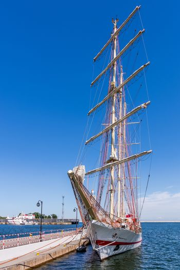 Sailboat in the Port of Gdynia