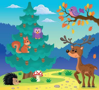 Coniferous tree theme image 3