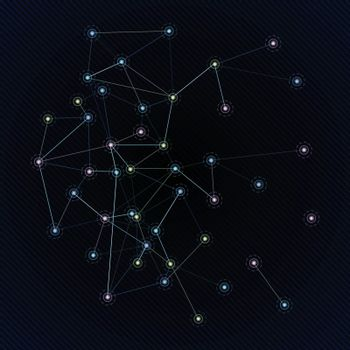 Constellation in space. A vector illustration