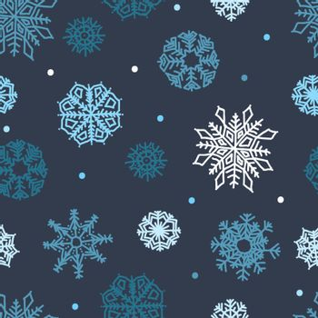 Beautiful snowflakes seamless ornament for christmas winter design
