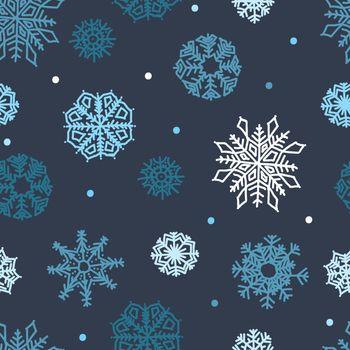 snowflakes seamless ornament