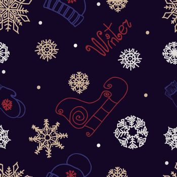 winter seamless ornament