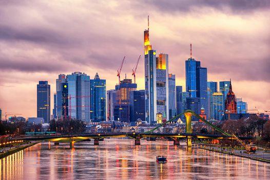 Skyline Frankfurt on Main, Germany