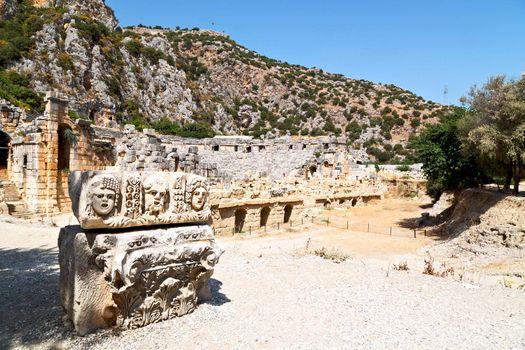 in  myra turkey europe old roman necropolis and