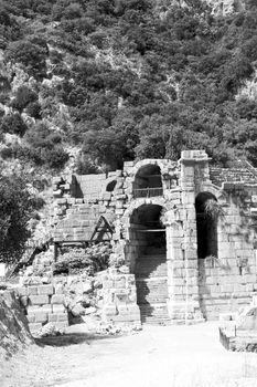 myra in turkey europe old roman necropolis and indigenous tomb s