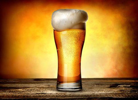 Foam on beer