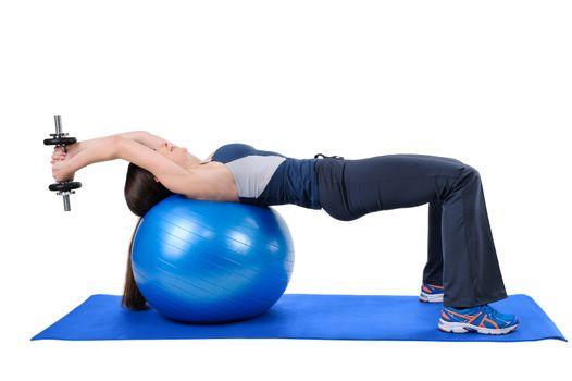 Fitness Ball Dumbbell Pullover