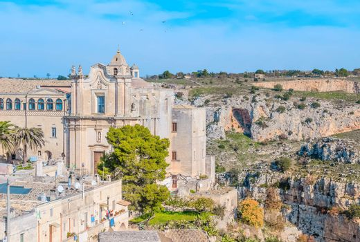 Church of St. Agostino. Matera in Italy UNESCO European Capital of Culture 2019